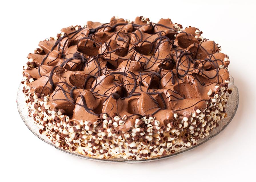 Glasstårta brun